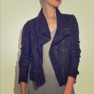 Rick Owens Jackets & Blazers - Rick Owens blistered leather motorcycle jacket