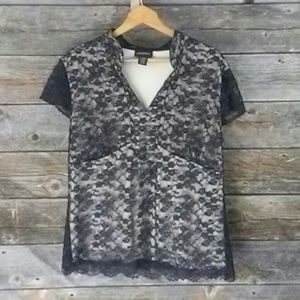 Lane Bryant Tops - Lane Bryant lacey shirt size 14/16. Lined