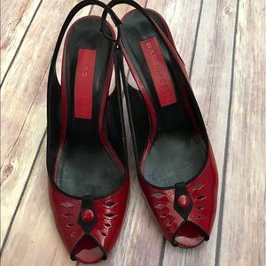 Marc Jacobs red sling back heels size 7 1/2