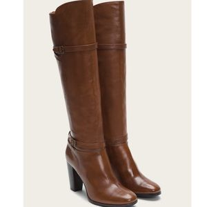 Frye Brown 'Laurie' Zip Tall Boot