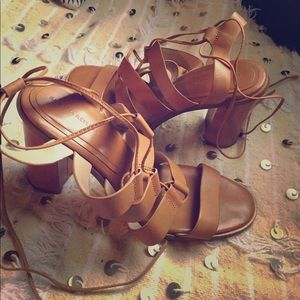 Banana Republic Shoes - banana republic block heel strap sandals