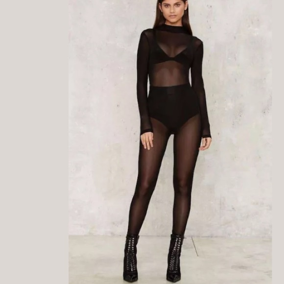 ce203612b32 🆕Hera Collection Black Mesh Sheer Full Bodysuit