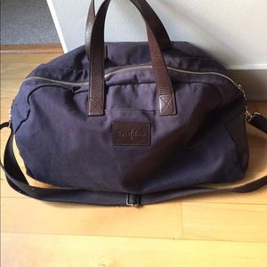 Cole Haan Bags - Cole Han navy canvas leather trim duffle weekender 82f43074d253f