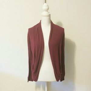 Ambiance Apparel Sweaters - Ambiance Apparel Maroon cardigan