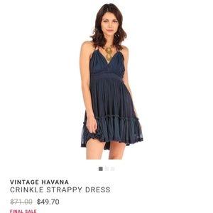 Vintage Havana Dresses & Skirts - Vintage Havana Crinkle Strappy Dress NWT