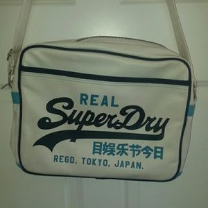 Superdry Other - Superdry white blue bag