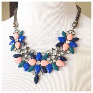 NEW Statement Necklace Rhinestone Accents