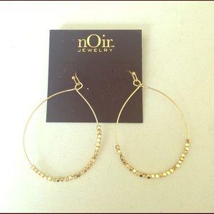 nOir Jewelry Jewelry - Gold Noir dangle earrings