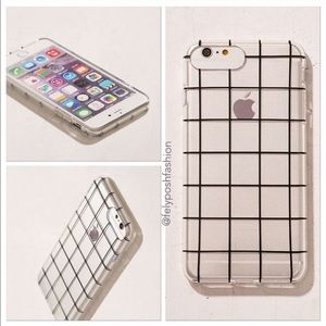 low priced ed3c5 b01a0 Urban Outfitters Grid On You iPhone 7 Plus Case NWT