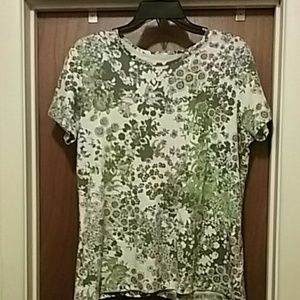 Laura Scott Tops - Laura Scott  Casual Short Sleeve Flower Blouse