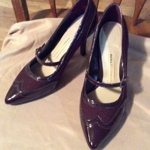 Dana Buchman wine colored heels. Size 7