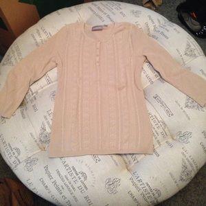 croft & barrow Tops - Croft & Barrow tan knit henley size small