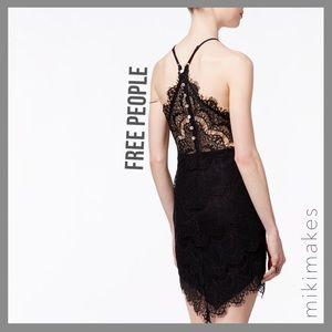 [ free people ] NWOT She's got it black lace dress