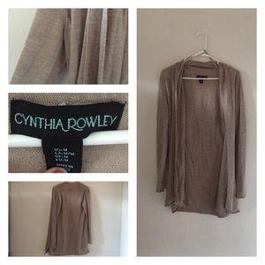 Cynthia Rowley Sweaters - Cynthia Rowley beige cardigan