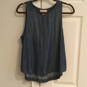 Cloth & Stone side button tank top