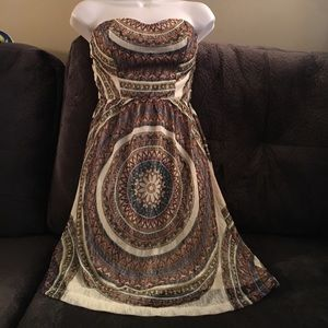 Lipstick Boutique Dresses & Skirts - Strapless Tribal Pattern Dress