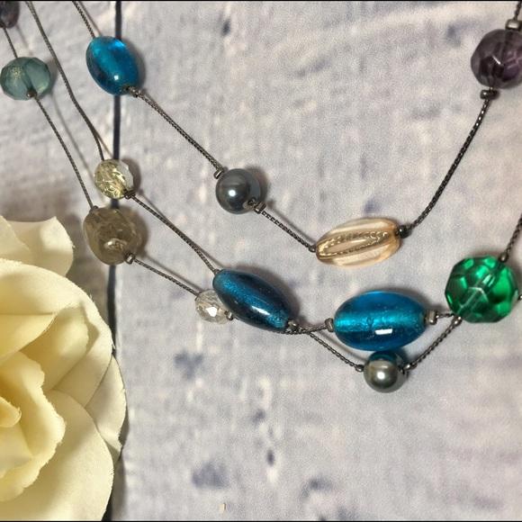 Jewelry - Sea Glass Beaded Layered Necklace