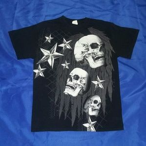 Gildan Other - Men's Skull Tee EUC