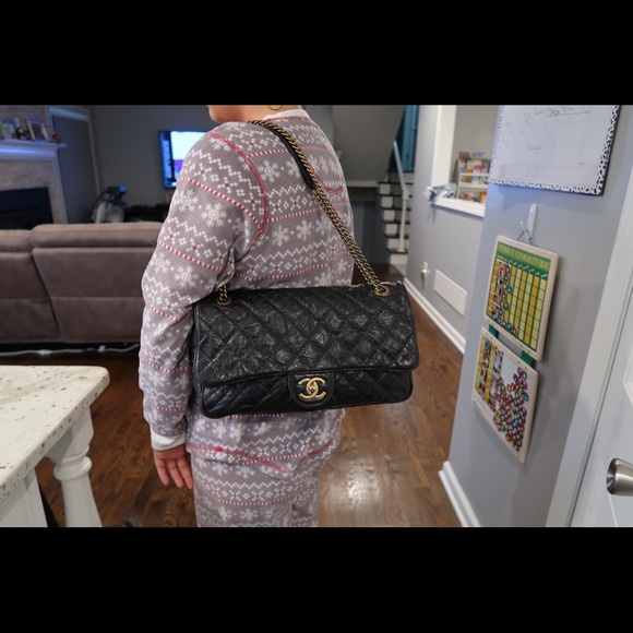 4cb4b6a25151 CHANEL Bags | Additional Pictures Shiny Black Easy Flap | Poshmark