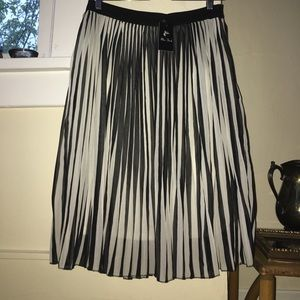 Miss Finch Dresses & Skirts - Pleated Black and White Skirt