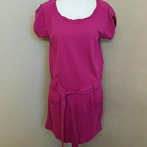 NWOT Calvin Klein Casual T-Shirt Dress in Fushia