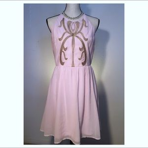 alya Dresses & Skirts - Fancy Pink and Gold Tea Dress 🎀
