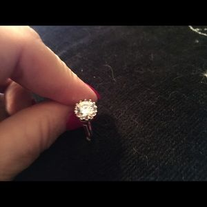 Accessory Collective Jewelry - Beautiful WGP Round Diamonique Ring REDUCED