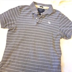Abercrombie & Fitch Other - ❣BOGO 1/2 off❣A&F striped muscle polo shirt