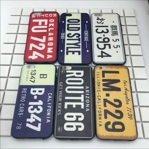 Accessories - Retro License Plate IPhone case