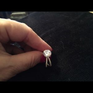 Accessory Collective Jewelry - WGP Criss Cross Diamonique Ring REDUCED TODAY
