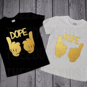 the2dopekids Other - Dope Gold Mickey Hands Shirt Unisex