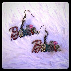 Barbie Jewelry - Barbie multi color rhinestone earrings