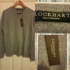 Lockhart   Other - LOCKHART GREY FINE CASHMERE SWEATER NWT
