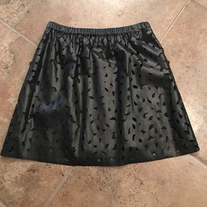 Gianni Bini Black Leather Skirt