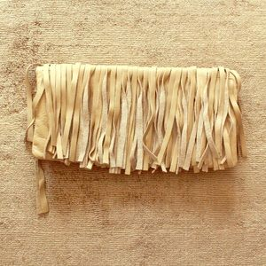 B-Low the Belt Handbags - Leather Frayed Clutch