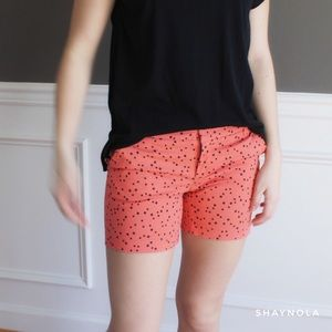 Caslon Pants - Caslon Coral and Black Printed Twill Shorts