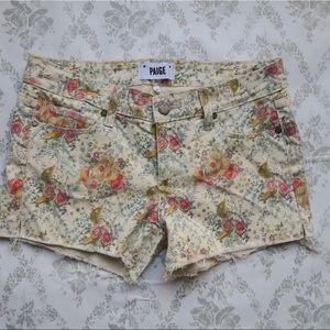 paige Pants - Paige Floral print short sz 27