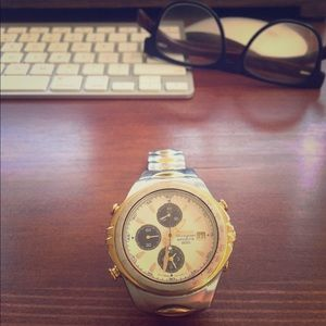 Seiko Other - Vintage 90s Seiko Chronograph Gold/Silver Watch