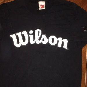 Wilson Other - Wilson logo tee black white Size M short sleeve