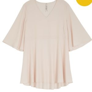 Melissa McCarthy Tops - Blush Flutter sleeve top