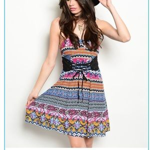 Dresses & Skirts - ✨LARGE ONLY/Multi Pattern/Corset Dress