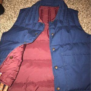 Reversible puffy jacket