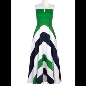 eshakti Dresses & Skirts - New Eshakti Chevron Fit & Flare Maxi Dress L 12