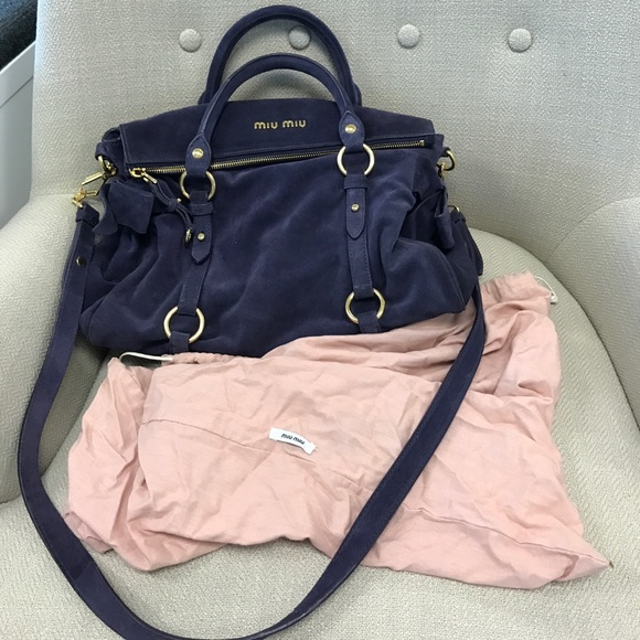 Miu Miu Plum Purple Suede Vitello Bow Bag. M 58fab45a5a49d0611c080ef7 bff49983f7631