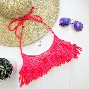 PINK Victoria's Secret Other - Victoria's Secret PINK Fringe Bikini Top Size S