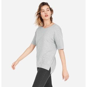 Everlane Tops - Everlane, the cotton drop-shoulder tee, grey, M