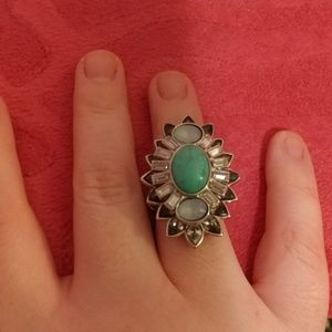 Jessica Simpson Jewelry - Jessica Simpson Turquoise Stretch Ring