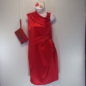 Noemie Dresses & Skirts - Tomato Red Noemie Formal Drape Dress Sz 12