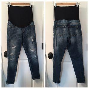 Liz Lange for Target Denim - Distressed ankle skinny maternity jeans