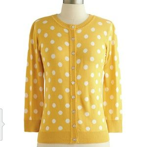 ModCloth Sweaters - Yellow ModCloth Cardigan